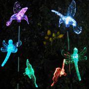 Lumin�ria Solar Jardim PVC beija-flor, Borboleta e Lib�lula 1382