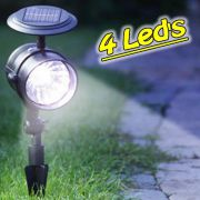 Lumin�ria Solar Jardim GRANDE PVC R�gido Spot 1384 4 Leds