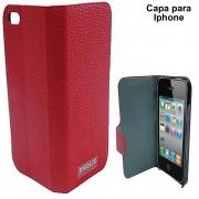 Capa Celular Iphone 5 Luxo Couro Sint�tico CBR-1075 Jinque
