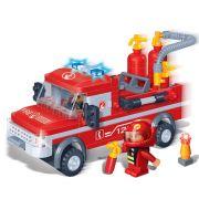 Brinquedo Carro de Bombeiro com 158 Pe�as em Blocos de Montar CBRN0852