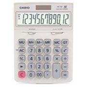 Calculadora de mesa Casio DZ-12S-WE-W-DH Branco 12 D�gitos, Solar e Bateria