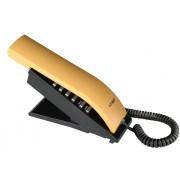 Telefone com Fio T-Klar TK-BEO Designer moderno e diferenciado, teclado alfanum�rico, ajuste de volume da campainha, redial,  Cor: Amarelo/Preto
