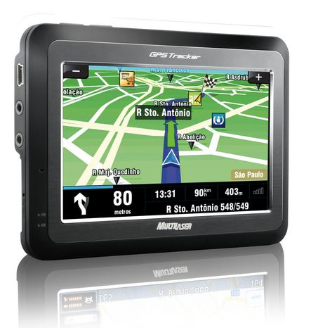 GPS Multilaser GP4110 - Tela Touch Screen 4.3 polegadas / USB 2.0 / Visualiza��o 3D e noturno