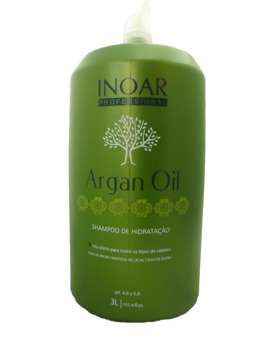 Shampoo Hidratante Argan Oil INOAR 3 Litros