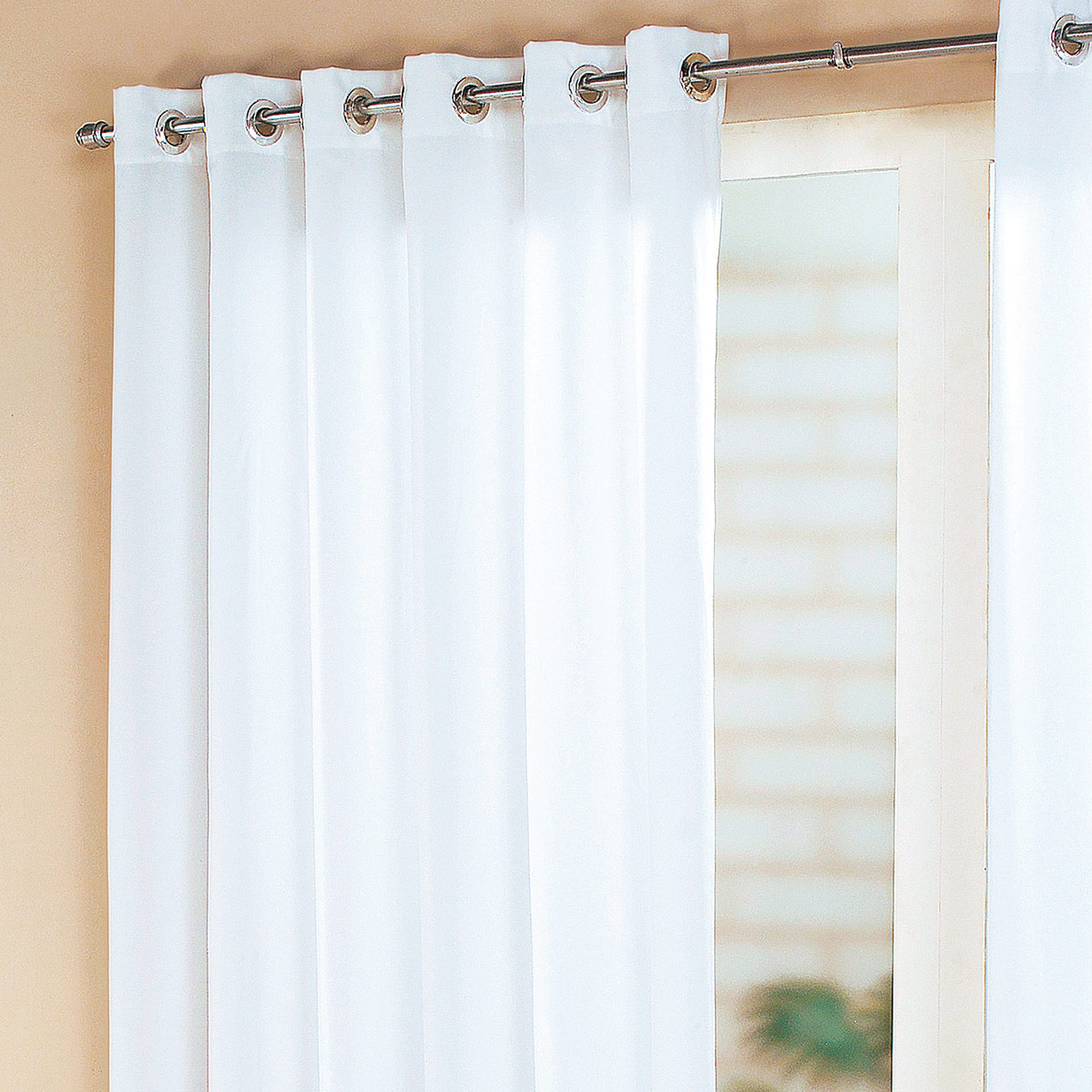 Cortina sala e quarto branco tecido cortelano algodao e - Cortinas por metros ...