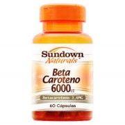Beta Caroteno 6000UI - 60 C�psulas - Sundown
