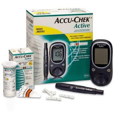 Aparelho de Glicemia Accu-chek Active (KIT) Medidor de Glicose - Roche