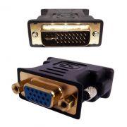 Adaptador Dvi-i Dual Link 24+5 F�mea P/ Vga 15 Pinos Macho