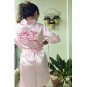 Robe M�e da Noiva - Rosa Claro Arabesco pink