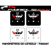 Placas Transl�cida p/ Man�metro do Console Passat - Volt�metro e Temperatura de �leo