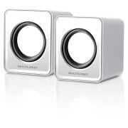 Caixa De Som 2.0 Mini 3w Rms Branco