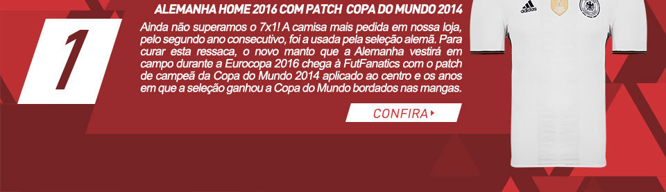 Alemanha Home 2016 com patch  Copa do Mundo 2014