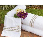 Toalhas de Banho Gigante Amaretto cor branco com 5 pe�as
