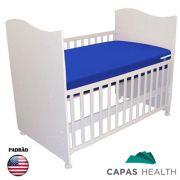 Capa de Colch�o Hospitalar Imperme�vel Ber�o Americano Azul 0,70 x 1,30 x 0,10 cm