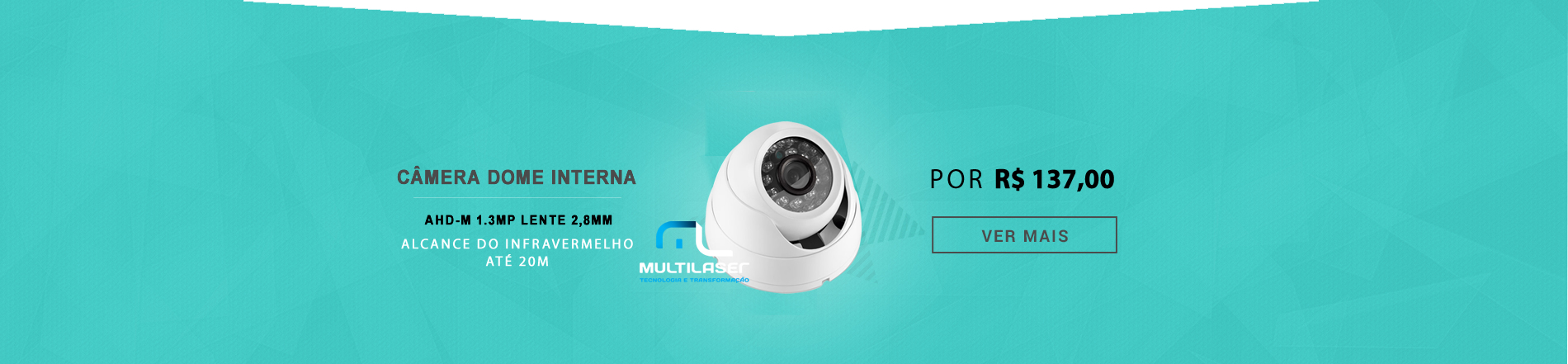 CAMERA DOME AHD-M 960P MULTILASER